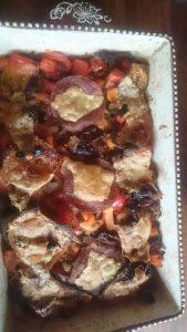 Lasagna met salami